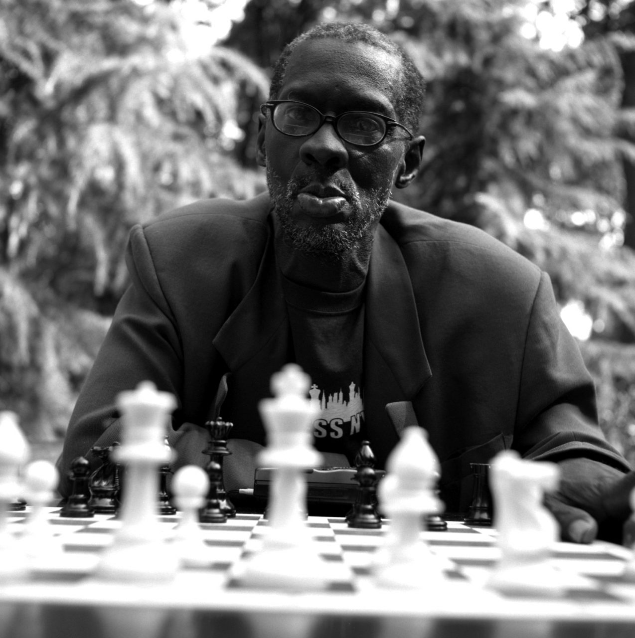 Black Man playing Chess Washington Park