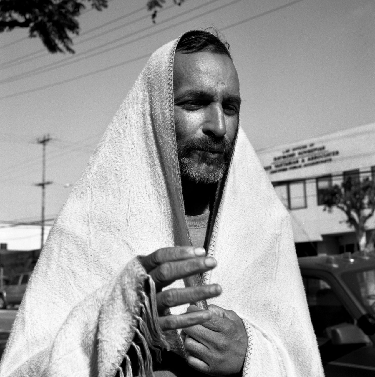 Gypsy Man with Blanket