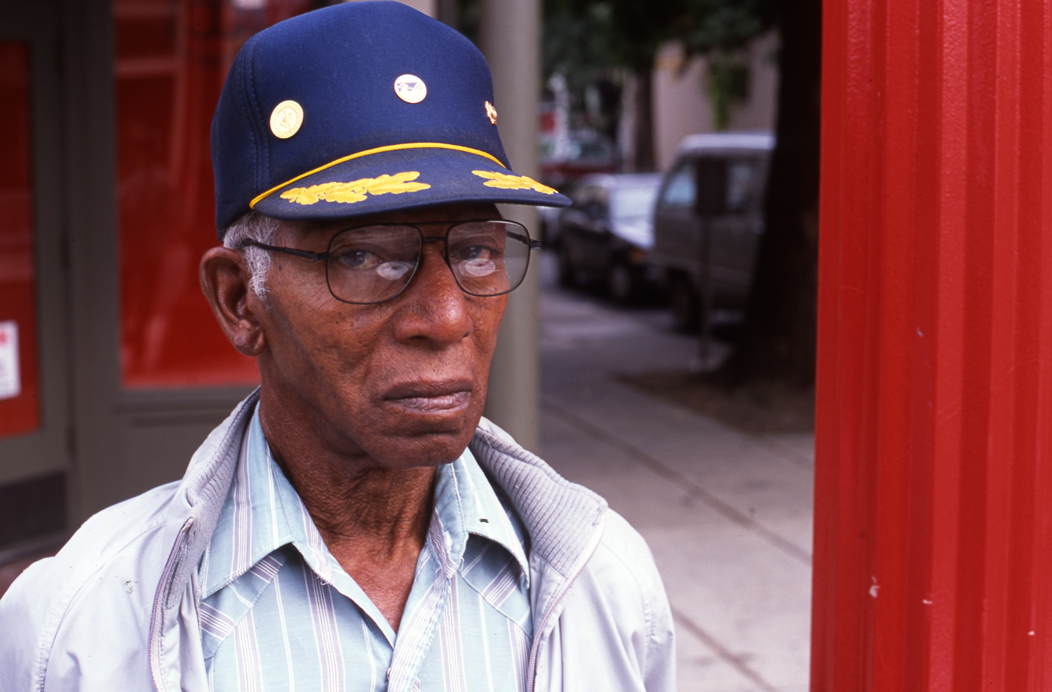 Black Man with baseball cap
