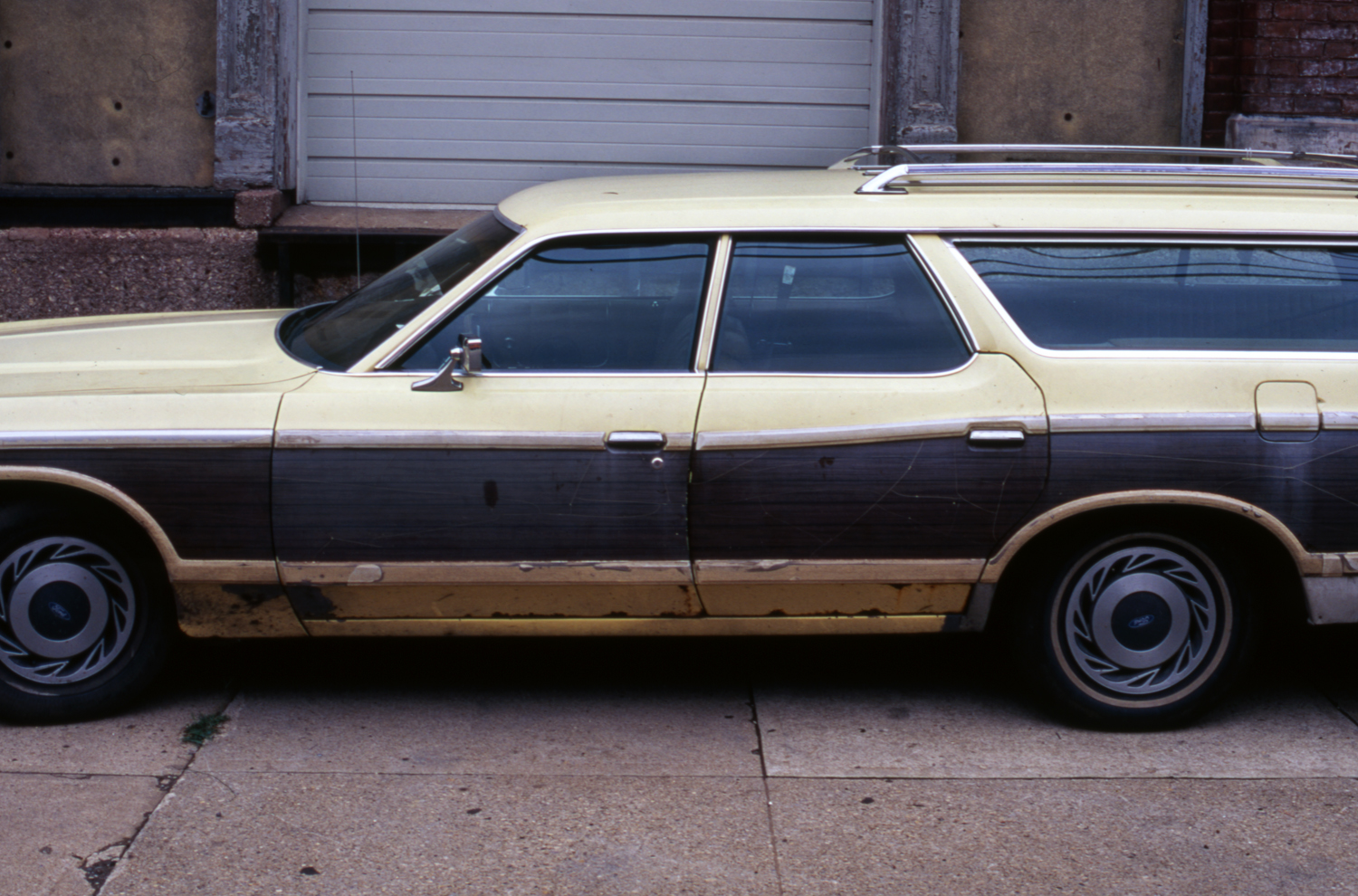 Brown & Yellow Station Wagon